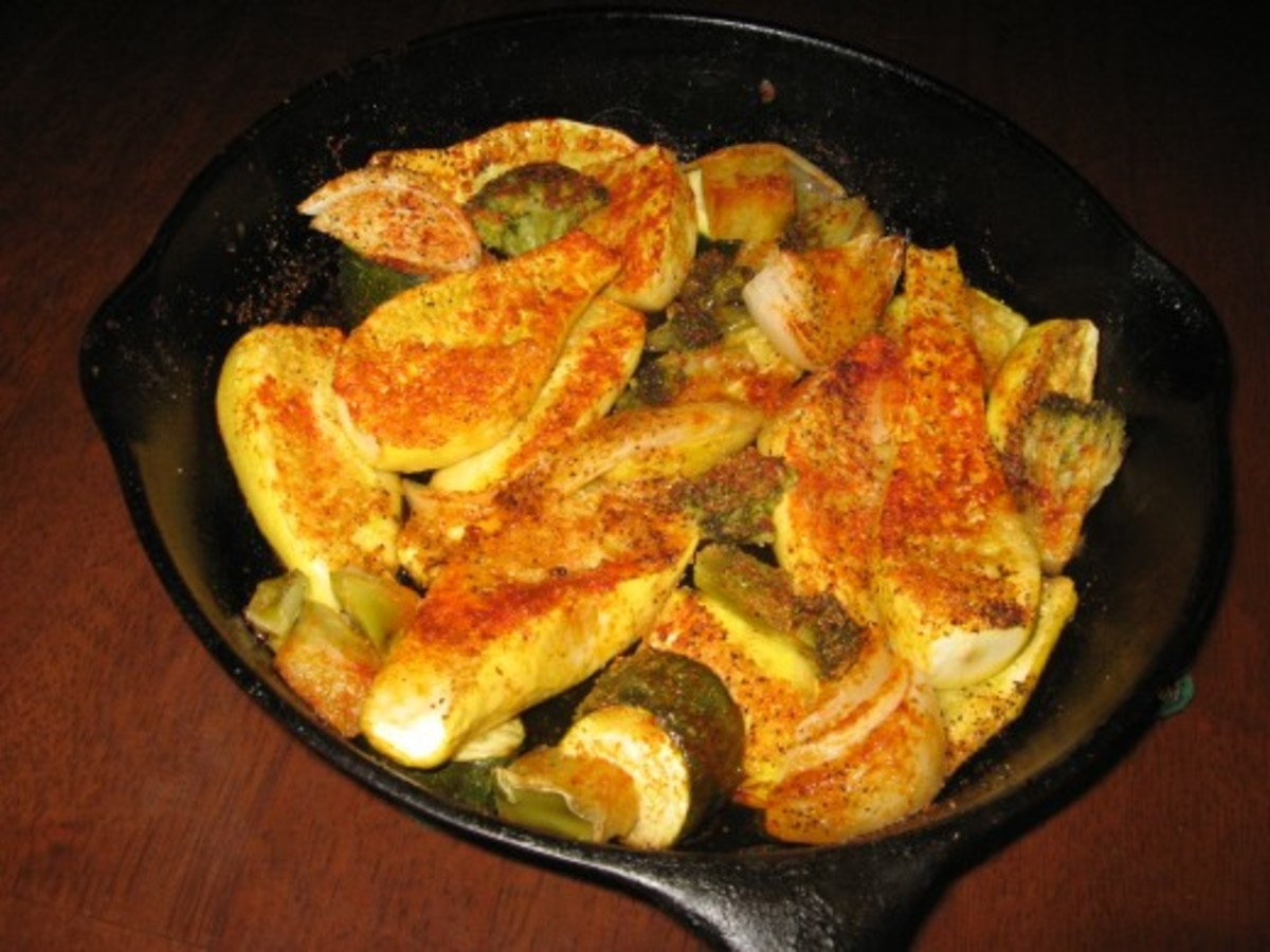 Roasting Vegetables can also be done in an iron skillet.
