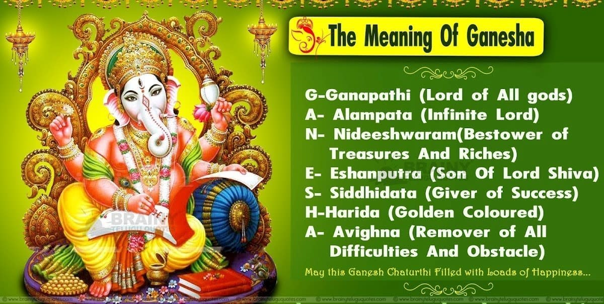 Ganeshotsava: Ten Days Festival Of Ganesha, The Lord Of Beginning, Purity, Wisdom and Collectivity; Remover of Obstacles