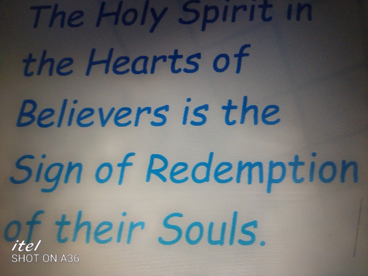 This shows how the Holy spirit is the sign of redemption to believes.