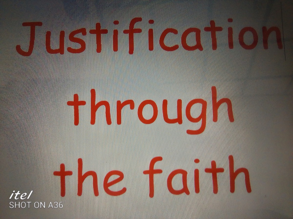 Justification is the starting point of Christianity process.