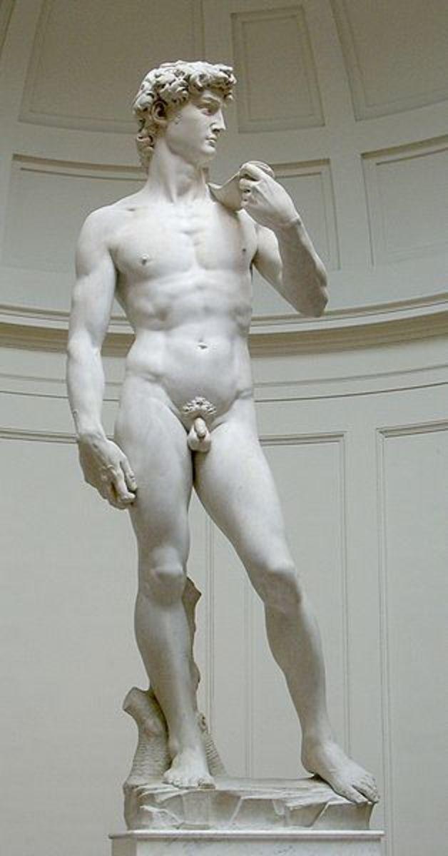 Michaelangelo's greatest sculpture, David.