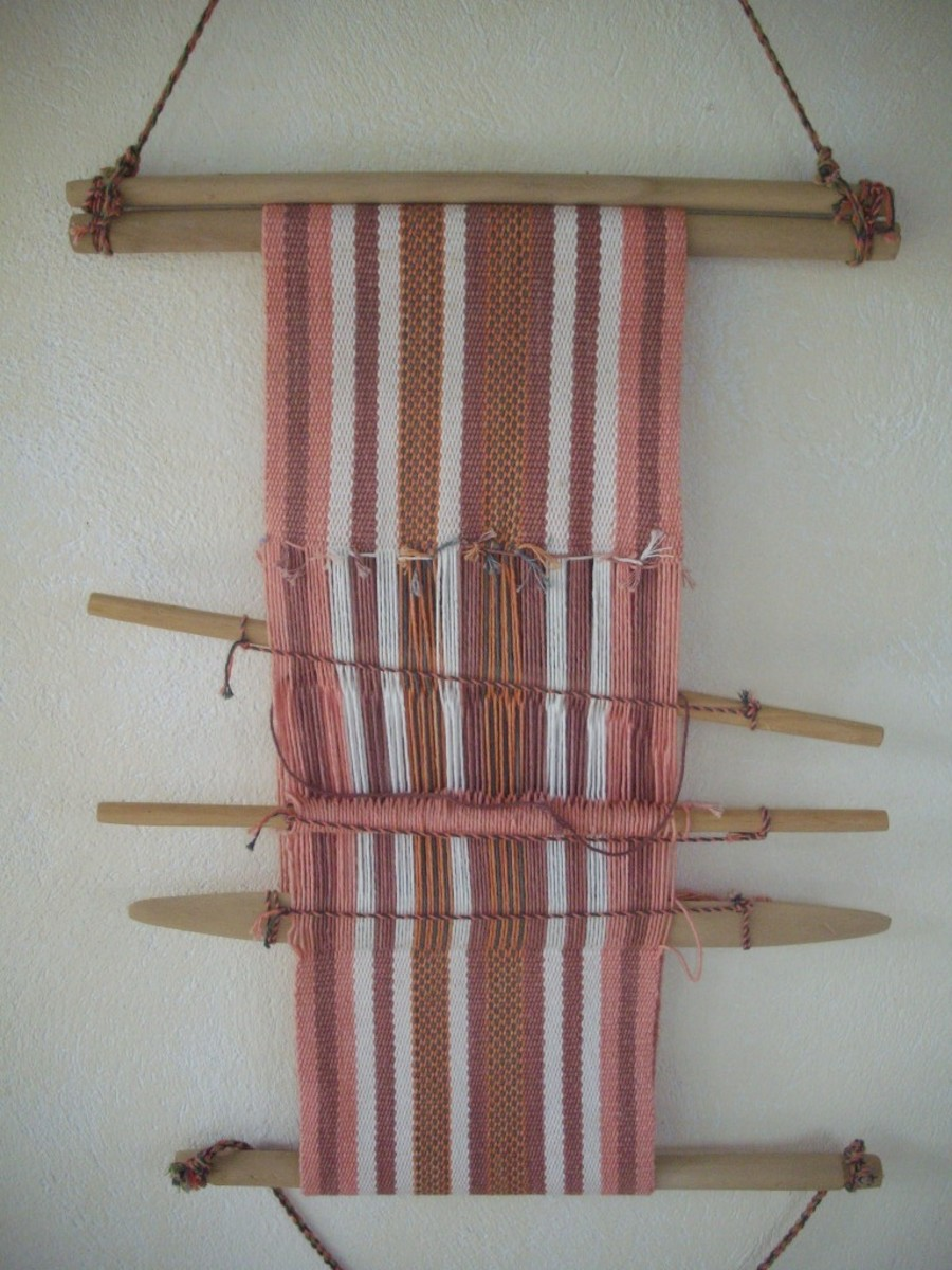 Bourcan weaving we purchased at the Boruca Reserve