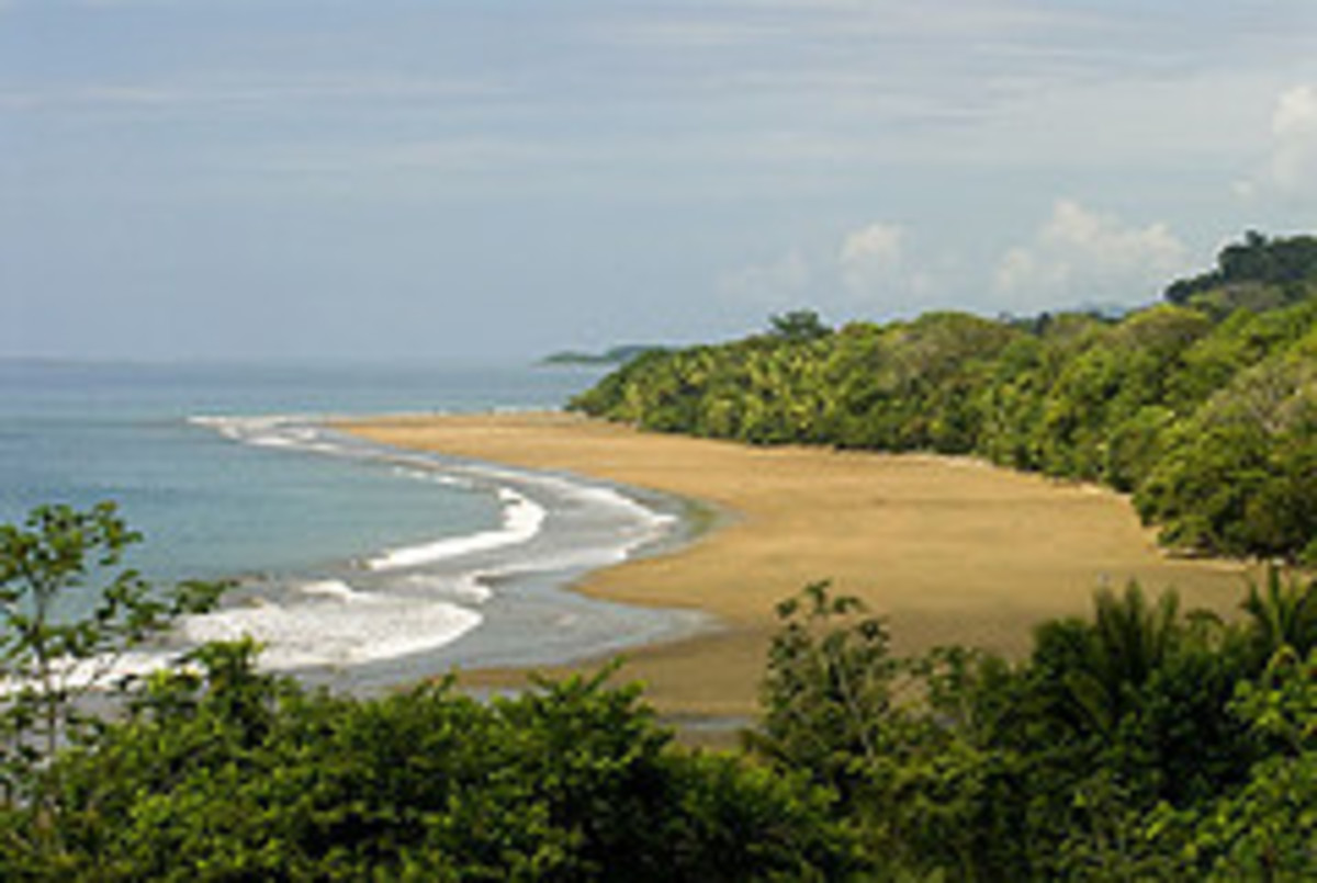 One of the beaches inside Ballena Marine National Park