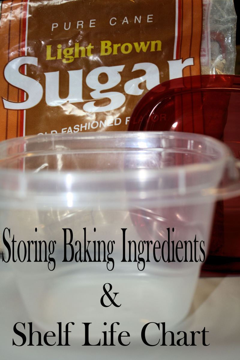 Baking Ingredients Storage and Shelf Life Chart