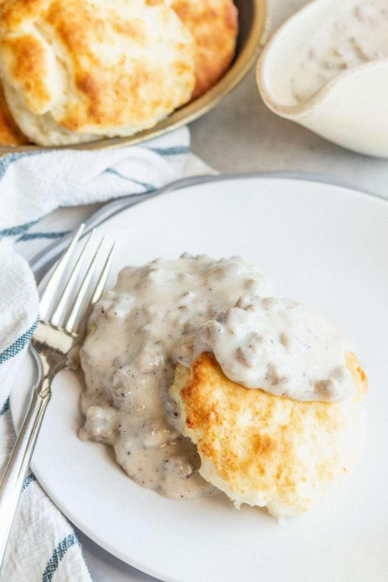 Gluten-Free Biscuits and Gravy