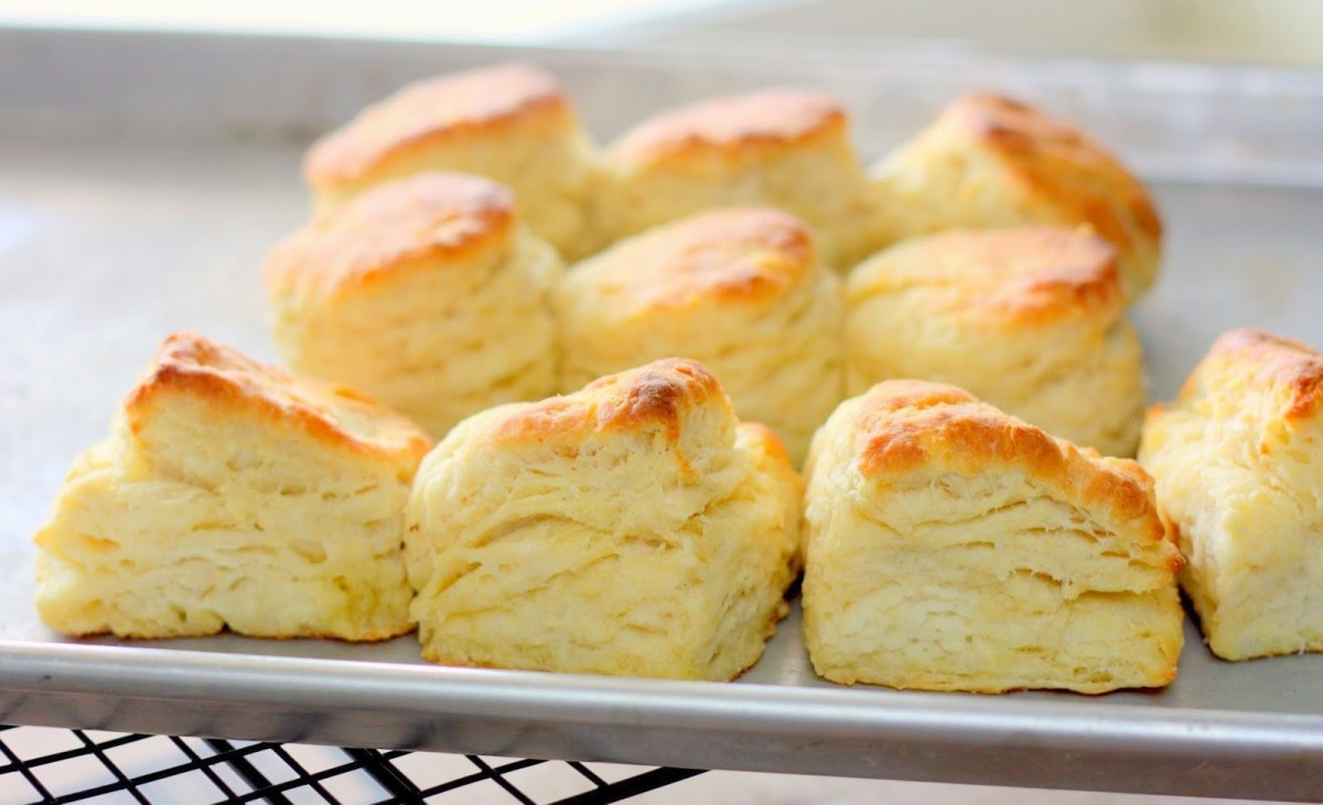 Hot and flaky homemade biscuits