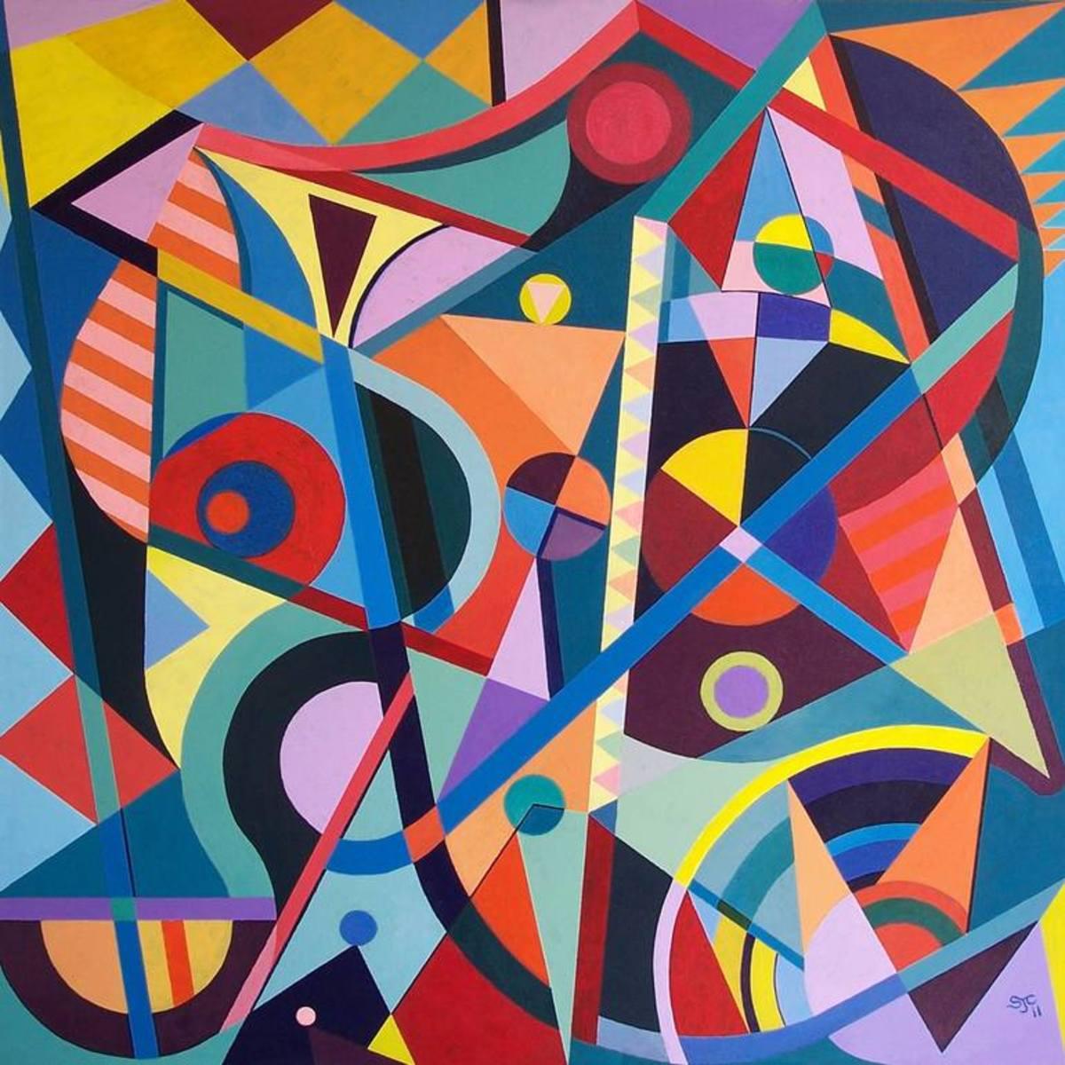 Geometric Painting | Saatchi Art