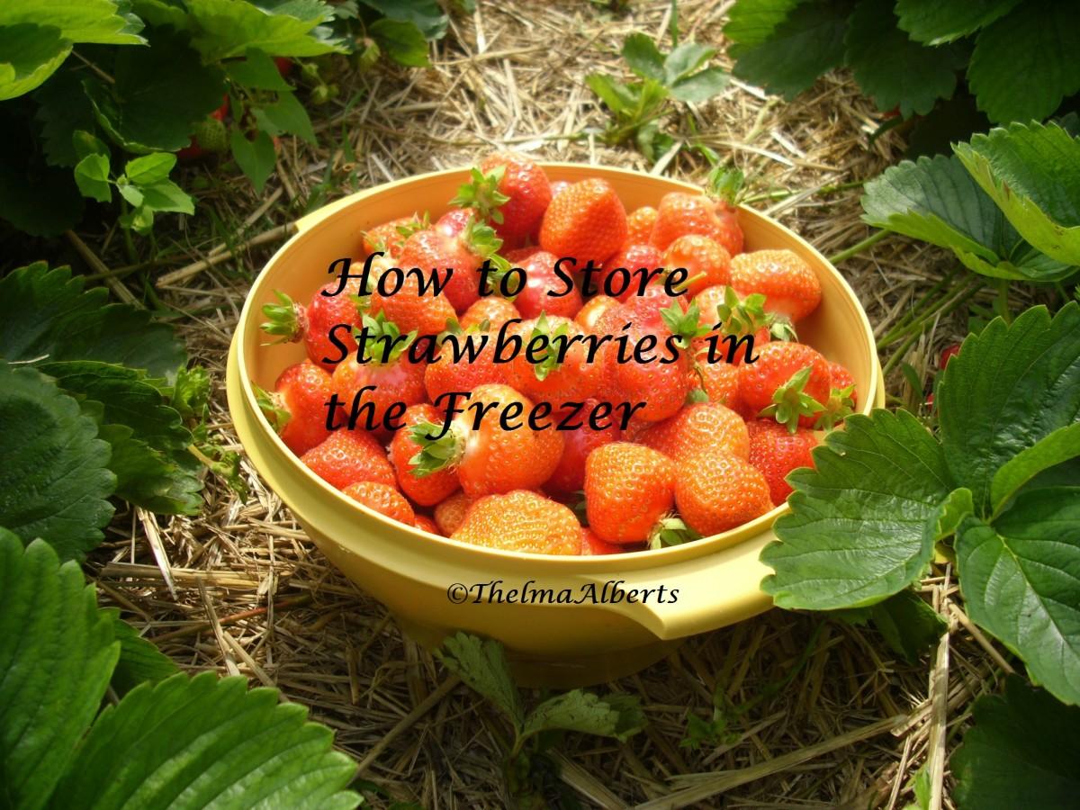 Fresh harvested strawberries.