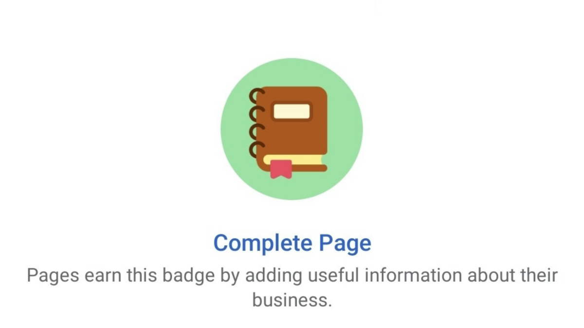 New Facebook Page Badges - Complete Page, Active Page & More