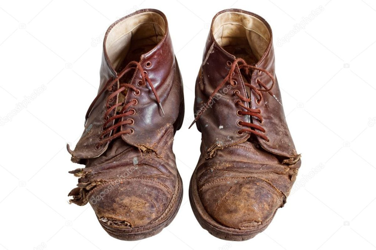 Proof that hobo's f yesteryear, walked many pairs of shoes like these.
