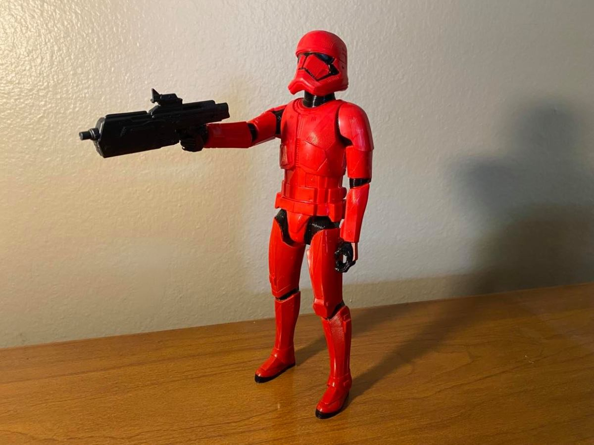 The Red Sith Trooper is poorly designed, and to such a degree that I'd call him a weak attempt at a greedy cash grab.
