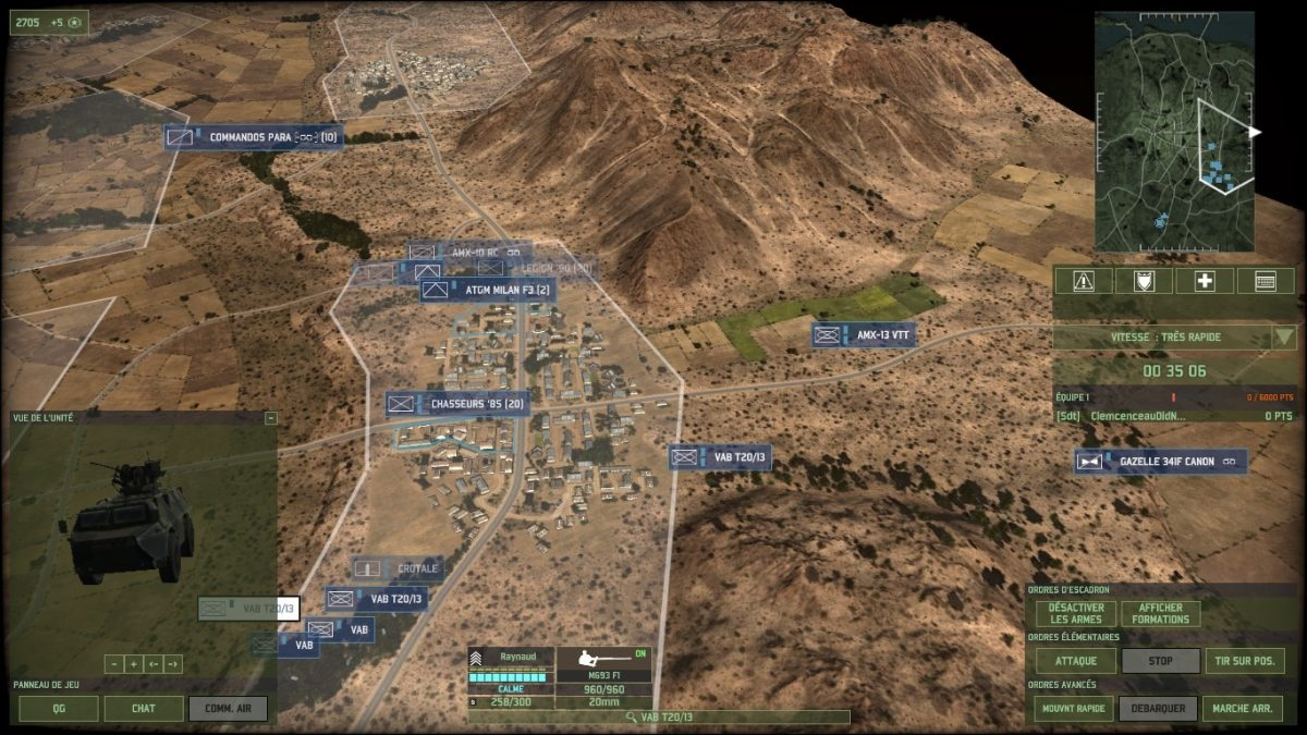 An example of a strong defensive line up, with ATGMs, AA, fire support reconnaissance tanks, recon infantry, some units to the side to stop infiltrators, and enough infantry in the city to hold up an enemy attack.