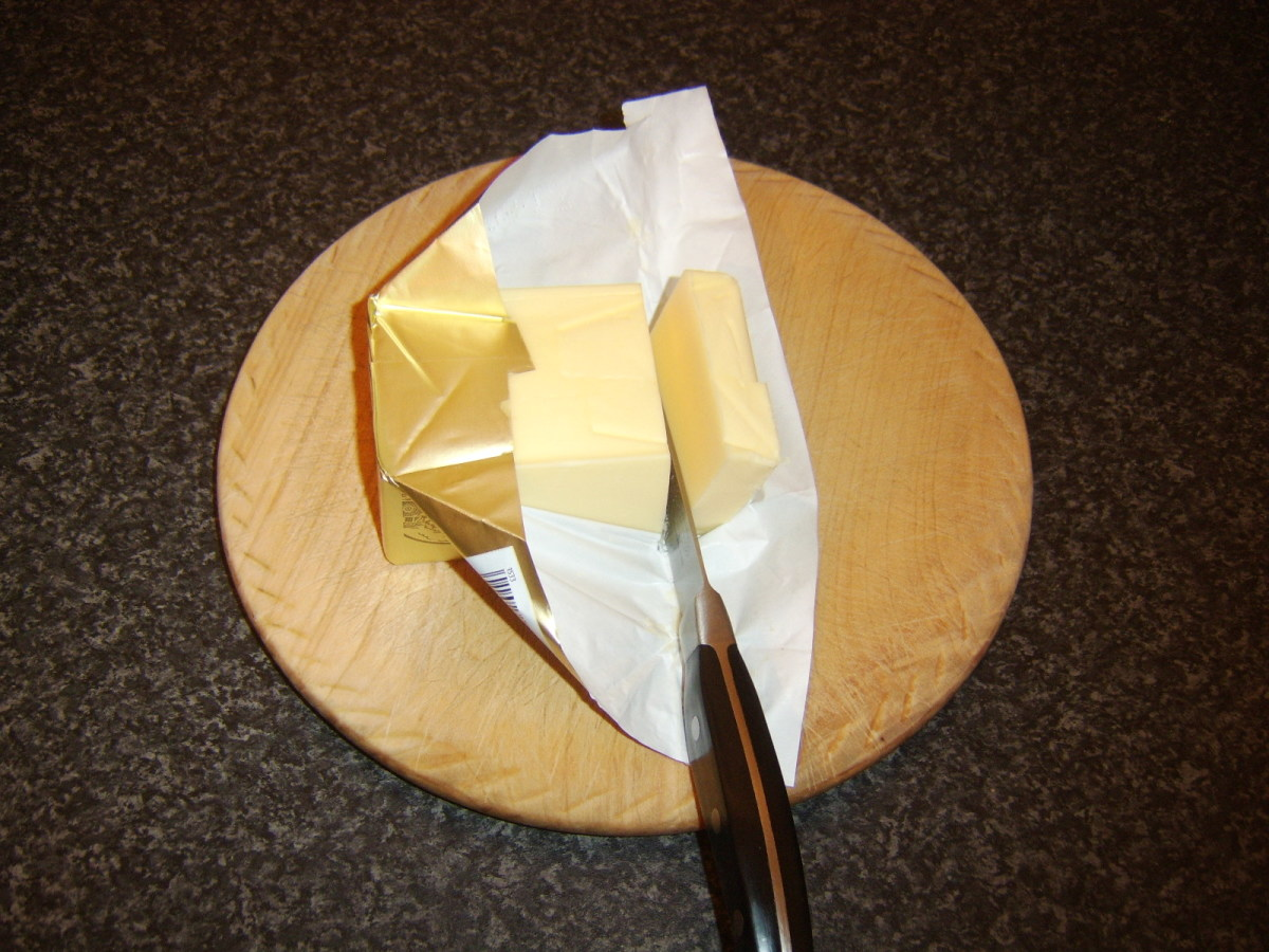 Slicing butter