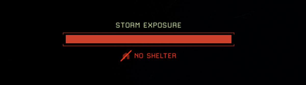 If you see this and you aren't right next to shelter, you are in trouble!