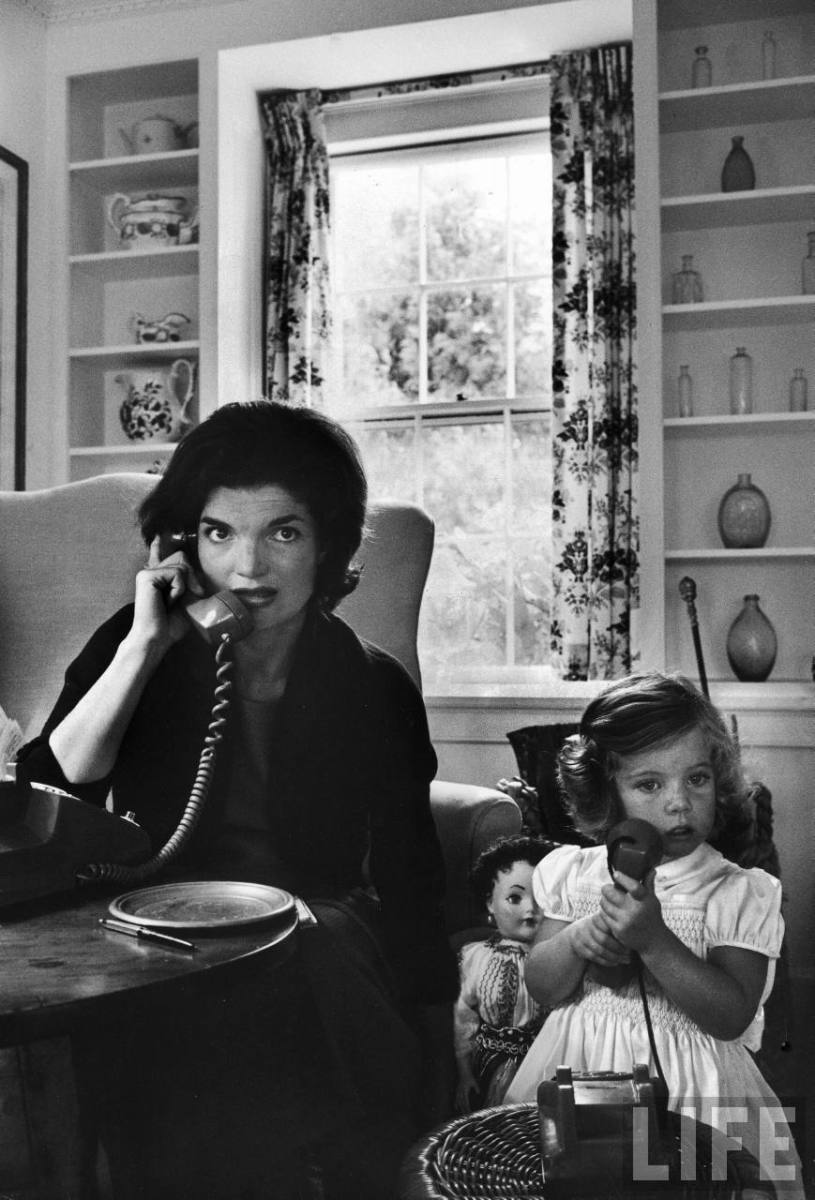 Jackie Kennedy with Caroline