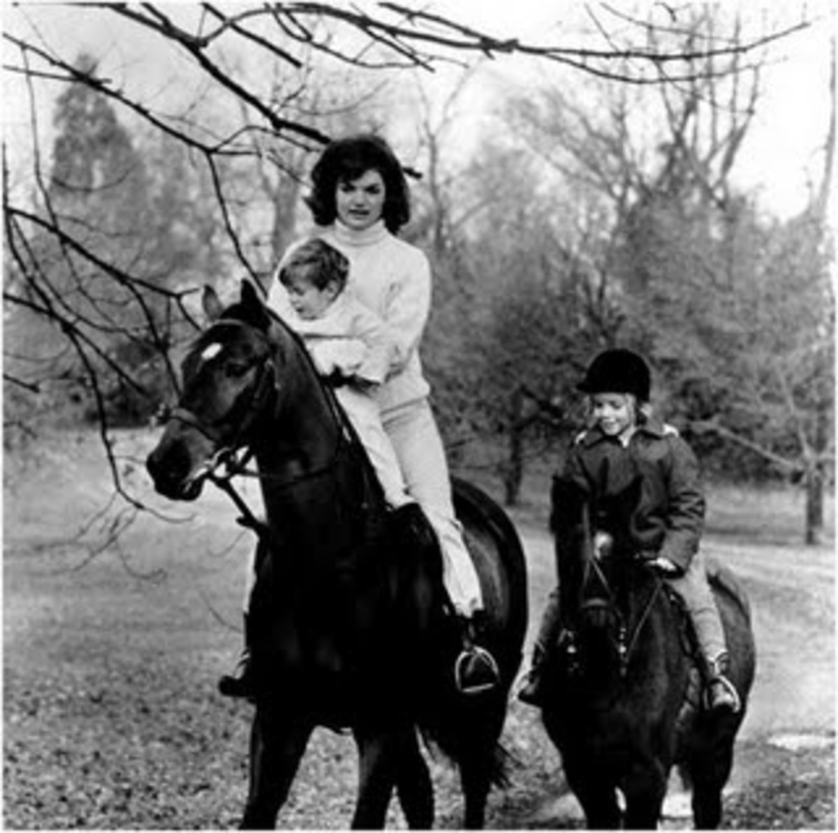 Jackie Kennedy and children Riding in Middleburg, VA