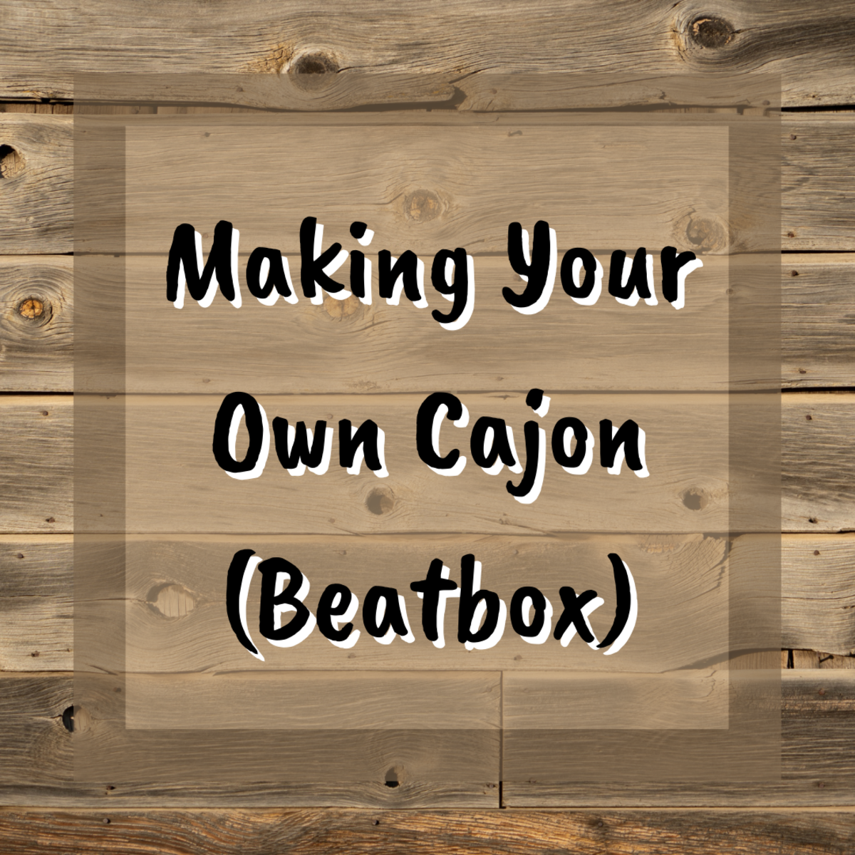 Learn how to create your own cajon, also known as a beatbox or box drum. This easy tutorial provides step-by-step instructions.