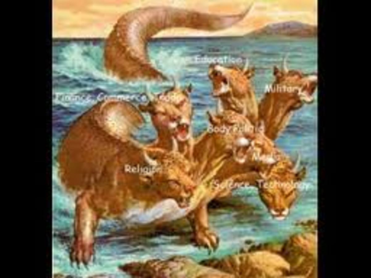 This could be the imaginary beast in Revelation; in ancient times beasts were symbolic powers of kingdoms and usually opposed to God's rules. Perhaps this is the reason why the beast with seven head became the main object against God in Revelation.