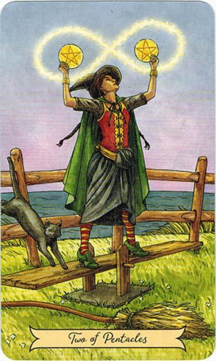 The Two of Pentacles reminds you to be practical, focused, and organized. You can support your many tasks with proper organization.