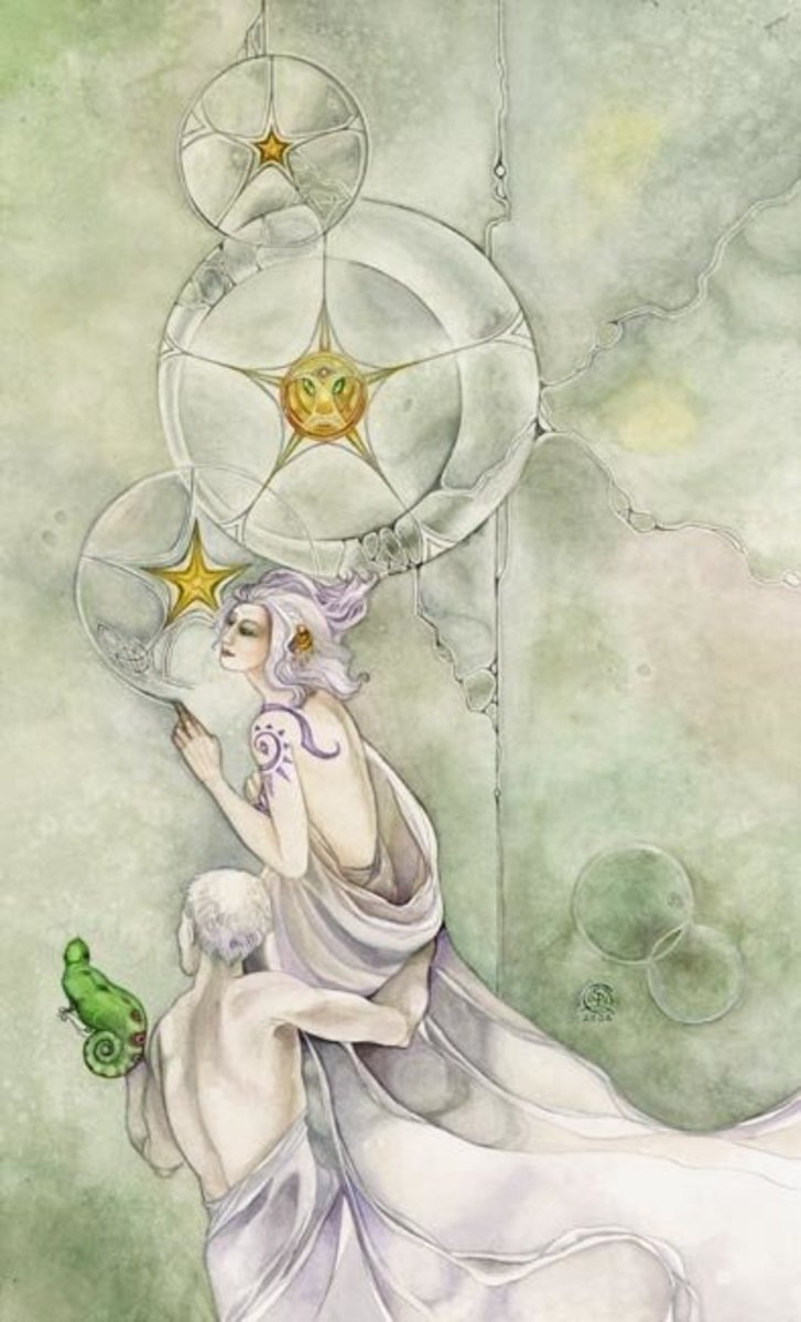 The Three of Pentacles indicates you're making progress on your dreams. You are making the right steps for your project. If you continue on this path it will benefit you and potentially others.