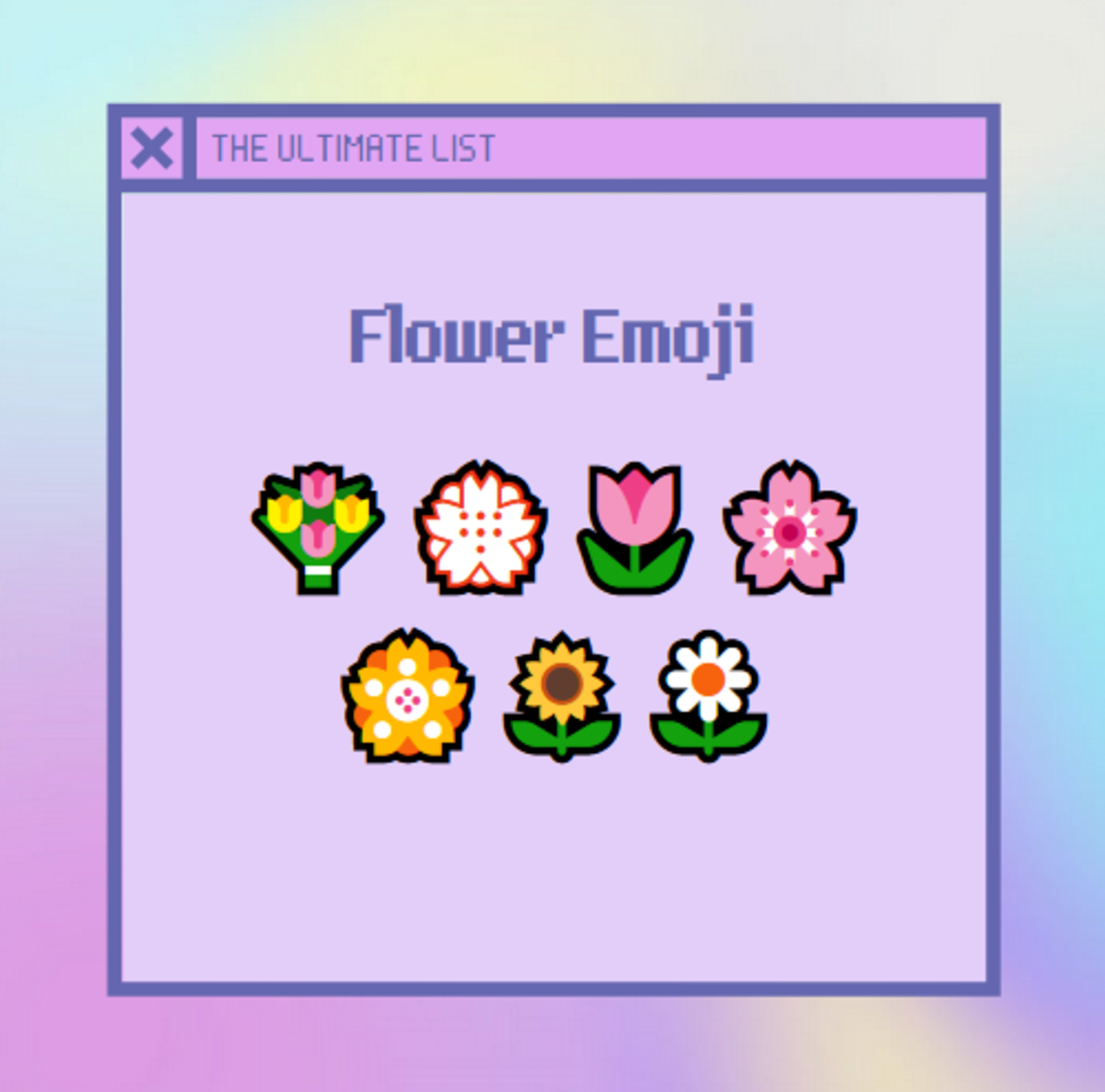 Here are some super cute examples of flower emoji!