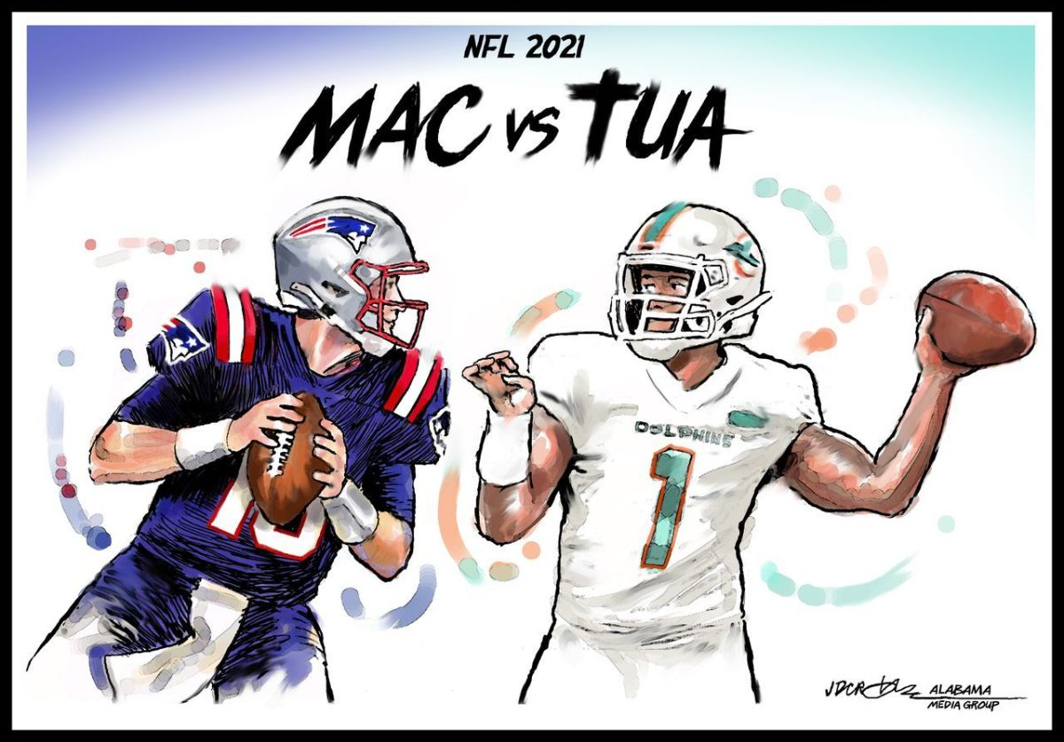 Dolphins win close game as Tua gets W over Mac Jones 17-16.