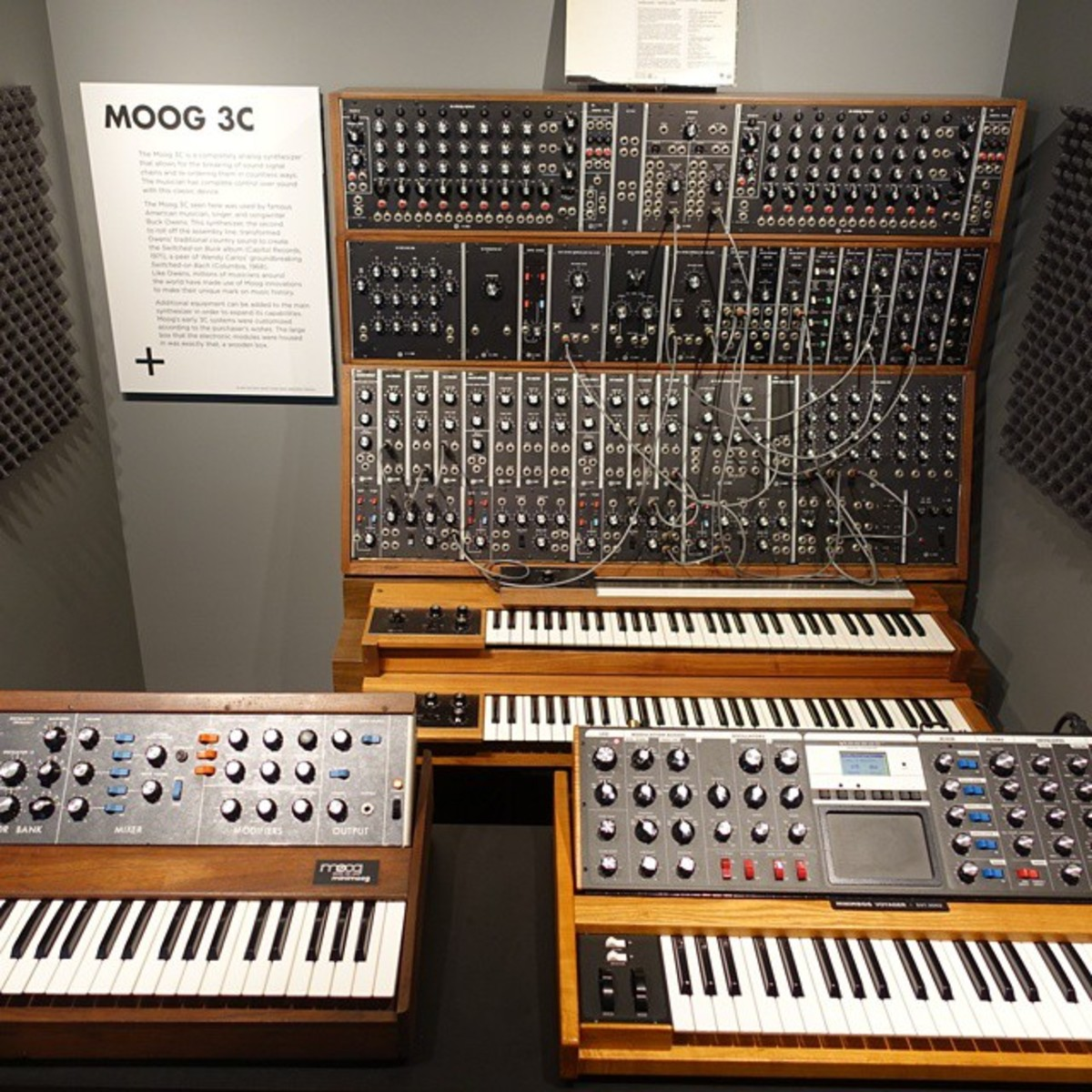 Moog synthesizers.