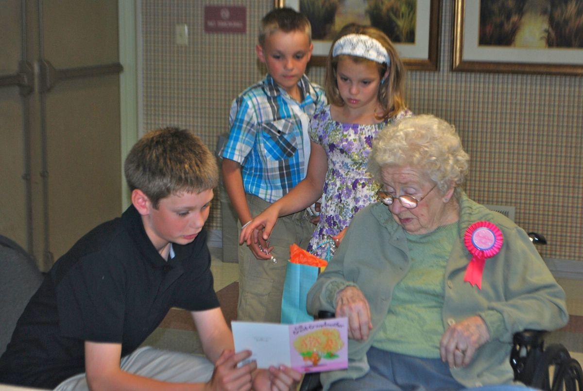 Celebrating an Elderly Mother's birthday