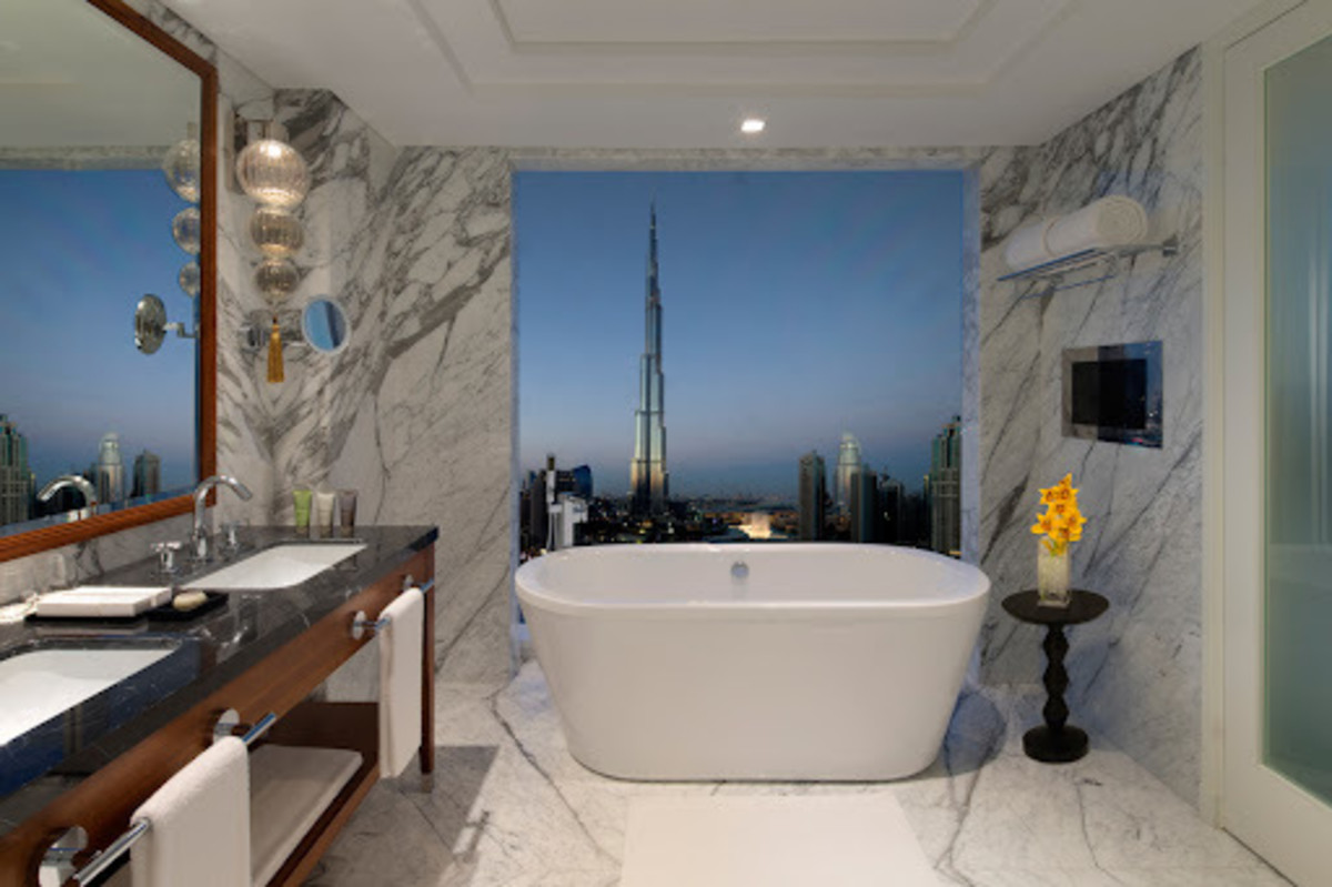 A View of the Burj Khalifa from the Washroom