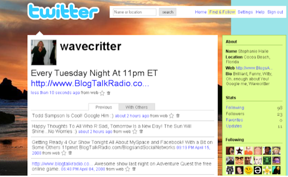 Wavecritter Twitter of Old