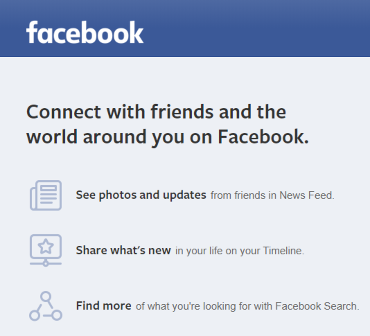 Never Preferred Facebook to Other Social Networks and Don't Have a Ready Picture of Facebook of Old For You.