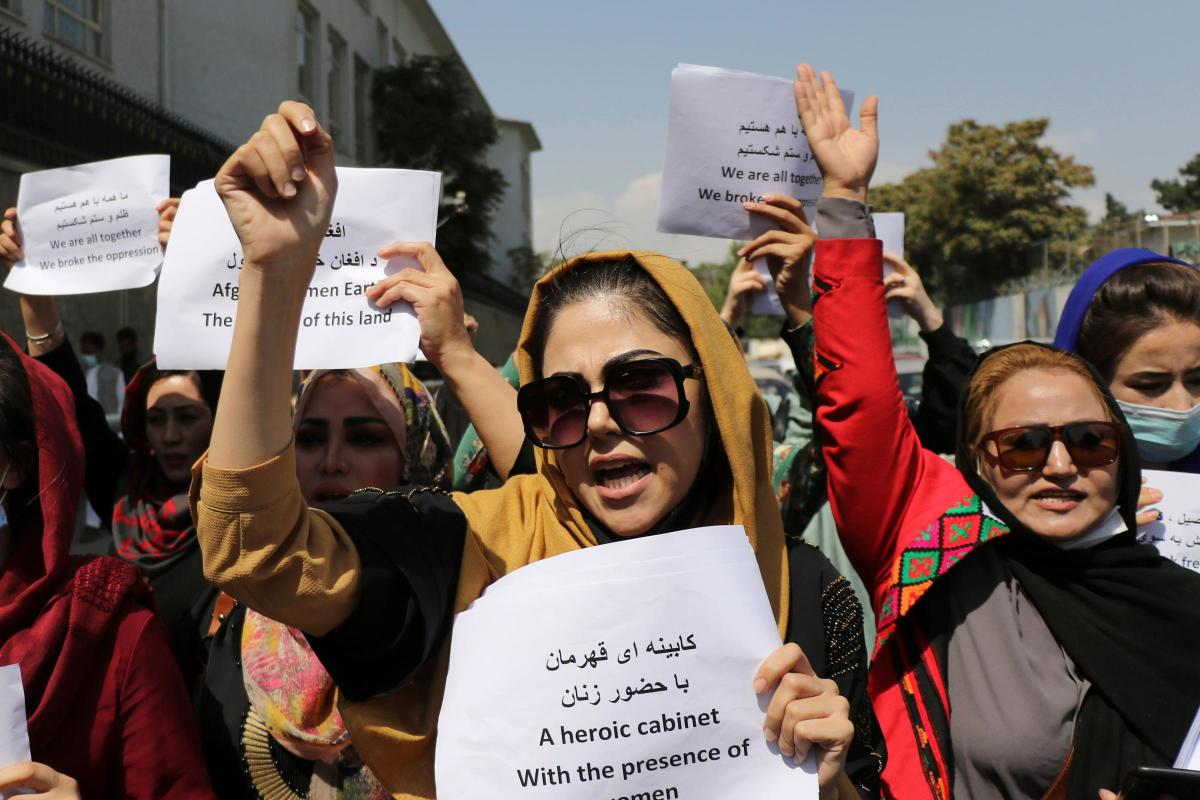 Protests but Taliban cracks down on them