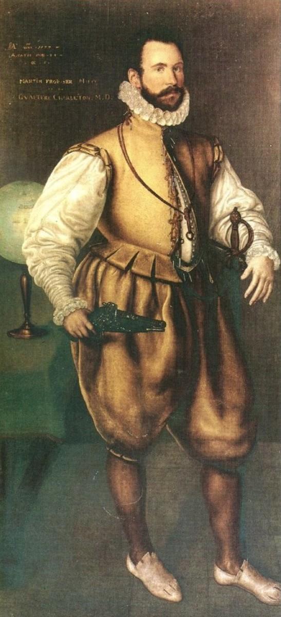 Martin Frobisher, by Cornelius Ketel, ca. 1577.  Image courtesy Wikimedia Commons.