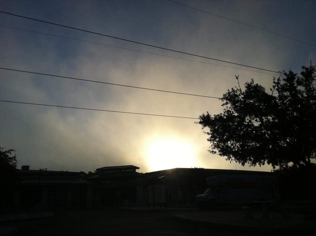 Sunrise in Naples, Florida in September 2012