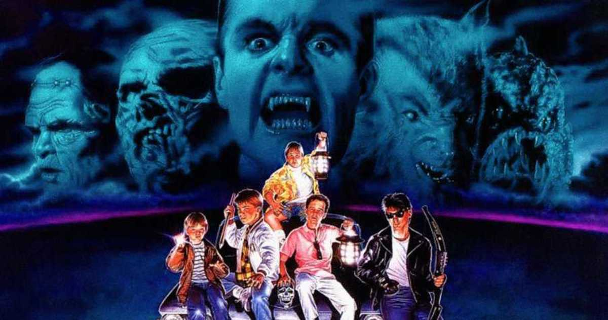A promotional image from the 1987 family adventure movie, The Monster Squad.