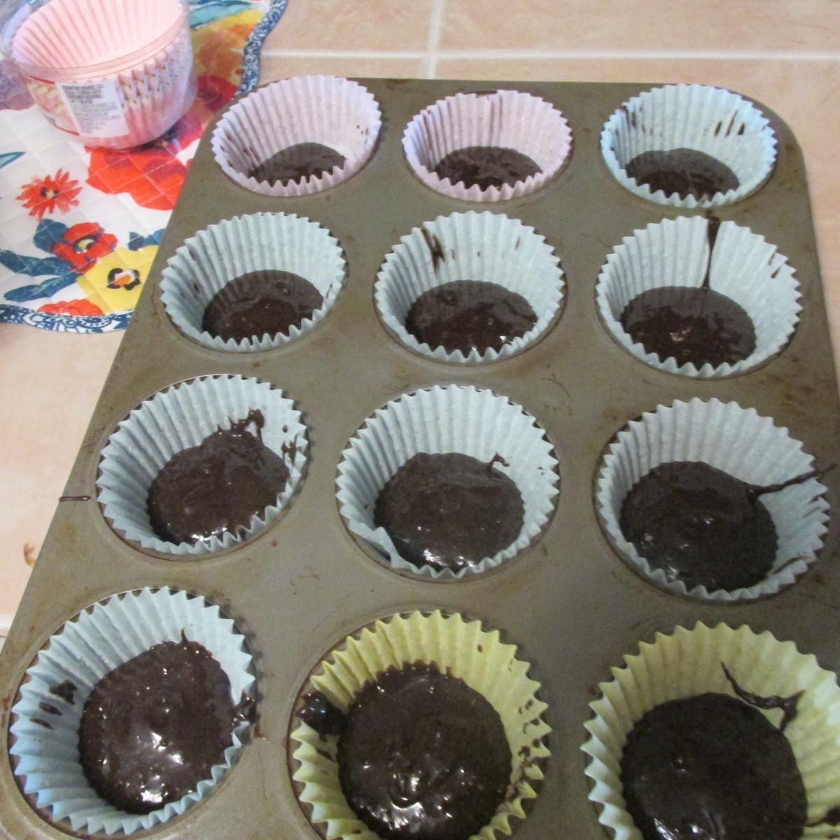 First layer: brownie batter