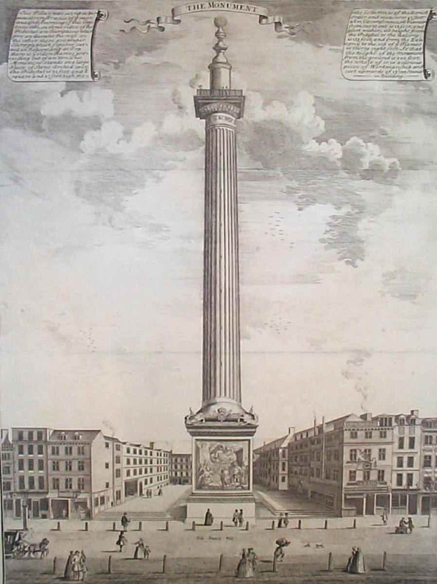 The Great Fire of London's Memorial Monument (1753.)