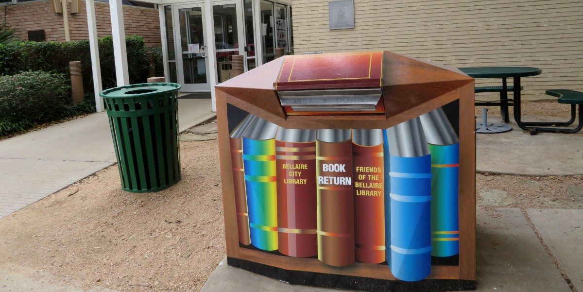Book Return outside the Bellaire City Library