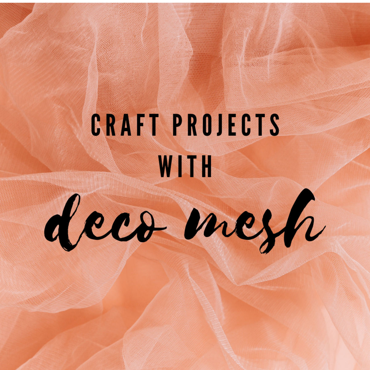From holidays to celebrations, deco mesh is the perfect craft material.