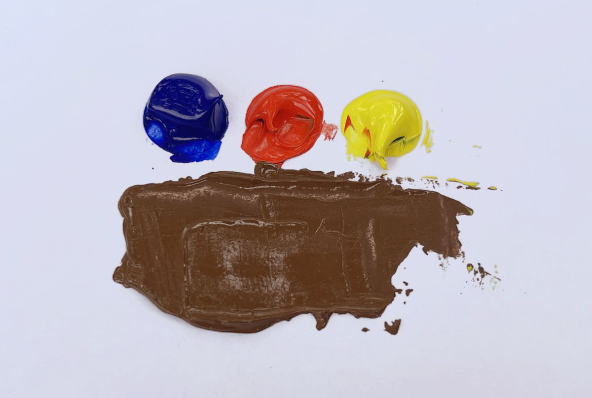 Ultramarine blue, cadmium red light, and cadmium yellow light make a nice reddish brown.