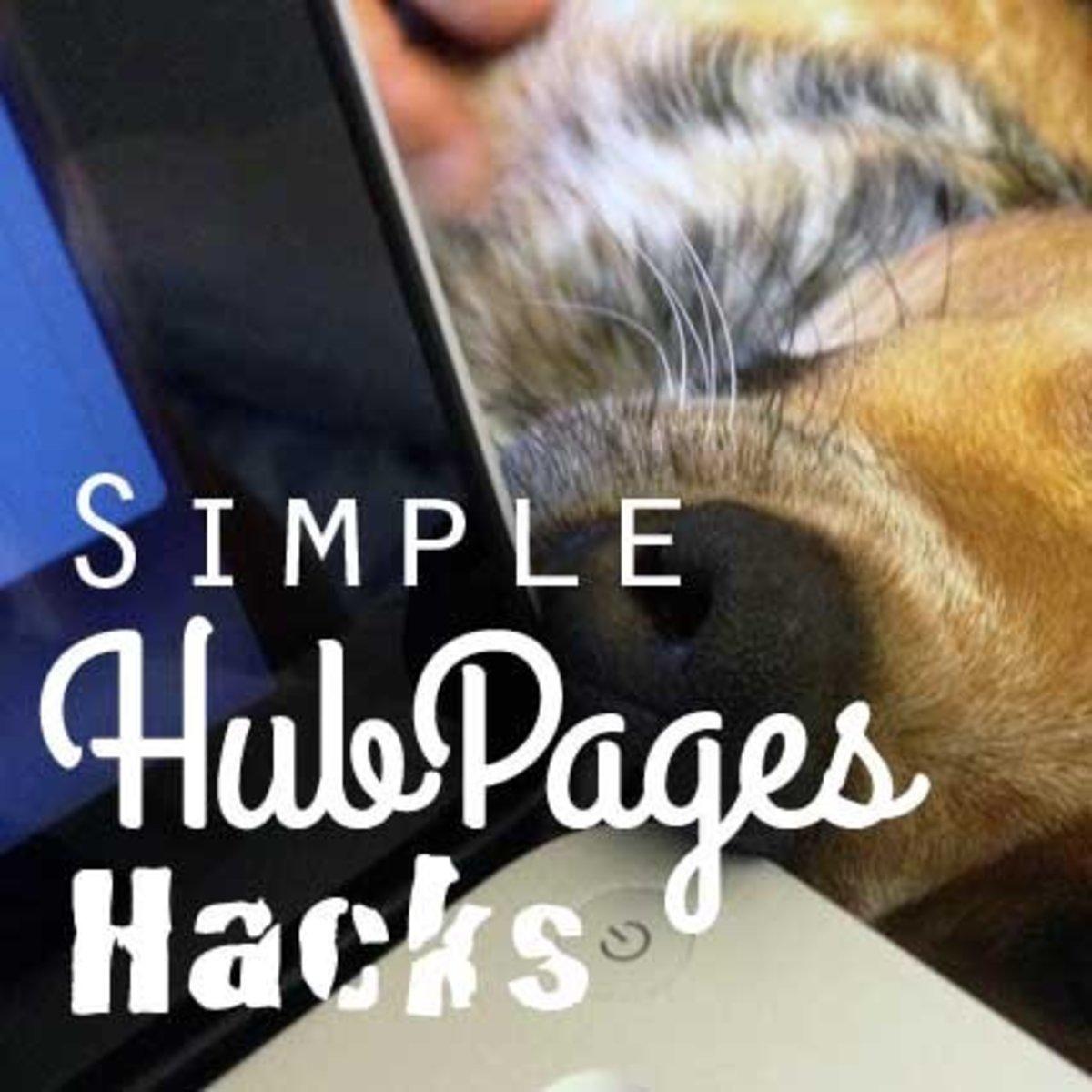 Simple Hubpages Hacks