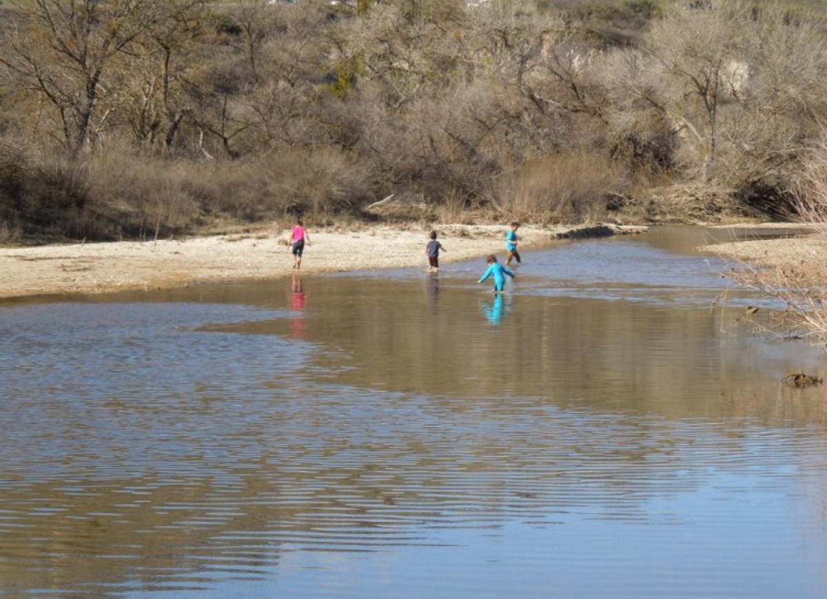 Children Playing in the Salinas River