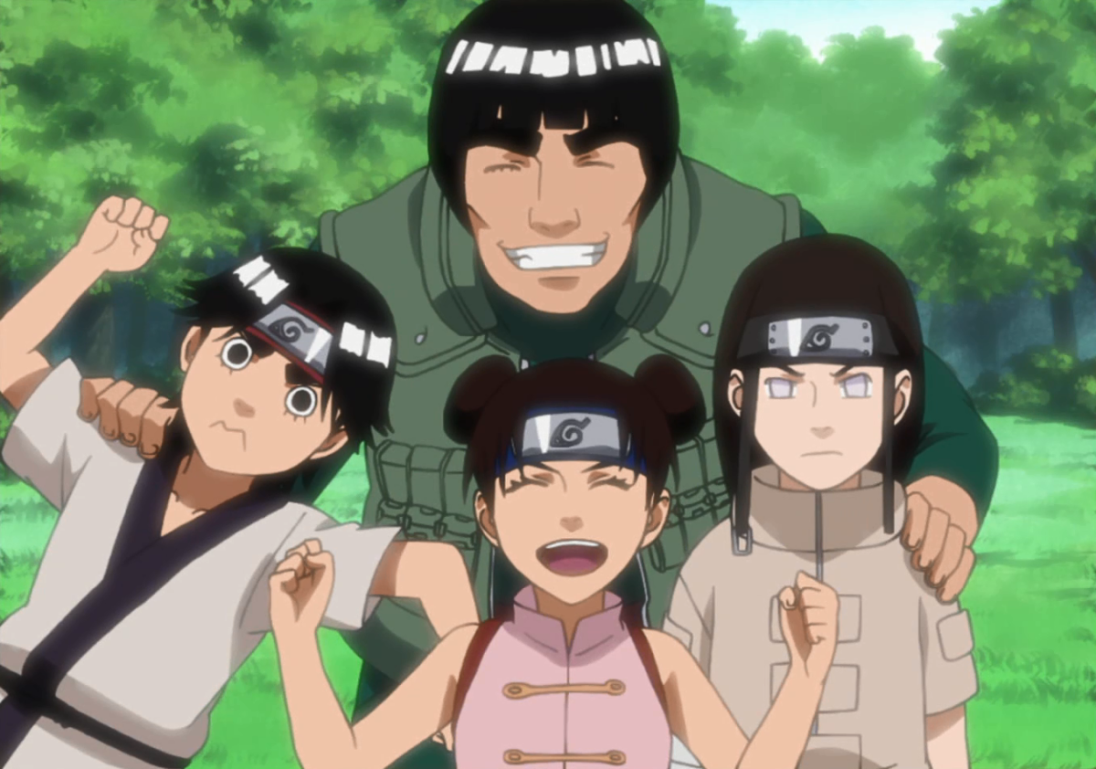 The photo of Might Guy, Kakashi, Naruto Uzumaki, Uchiha Sasuke and Haruno Sakura