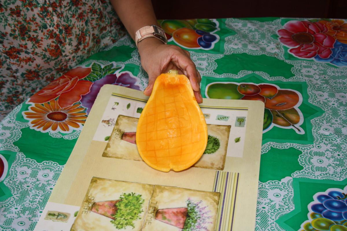 Empty half of  papaya.