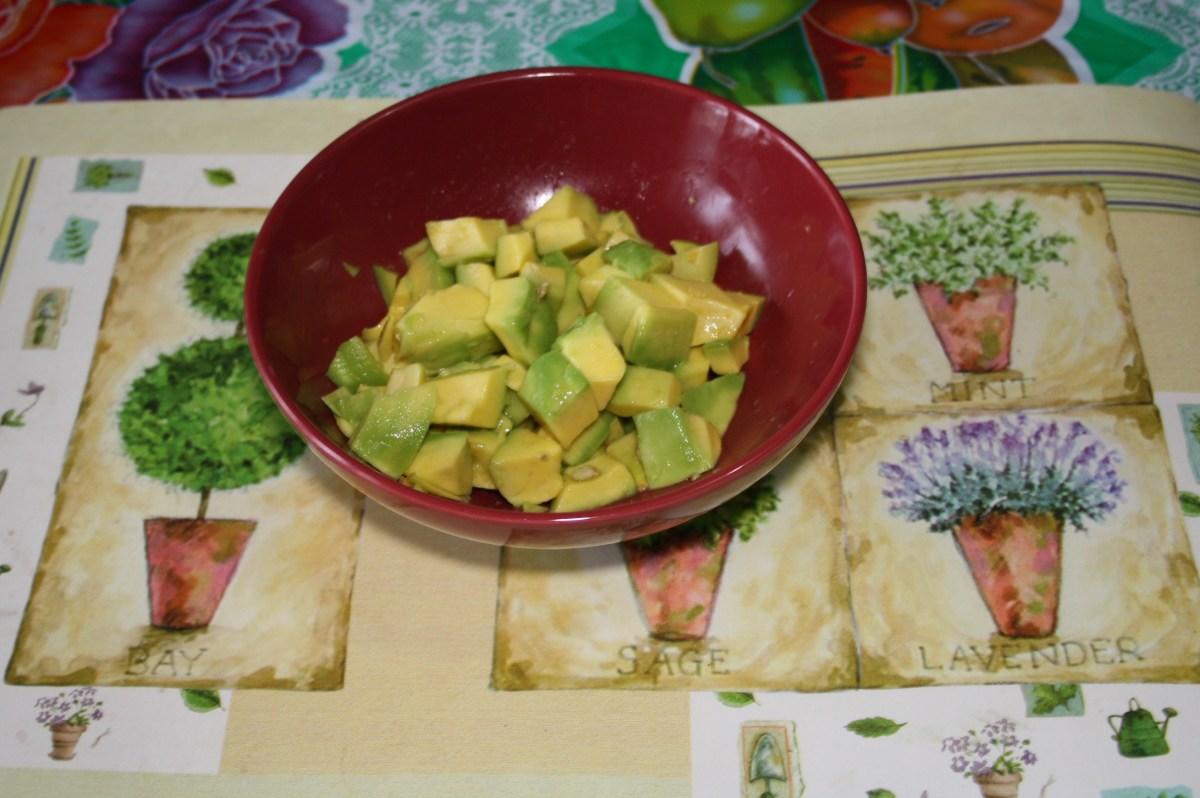 Avocado cubes