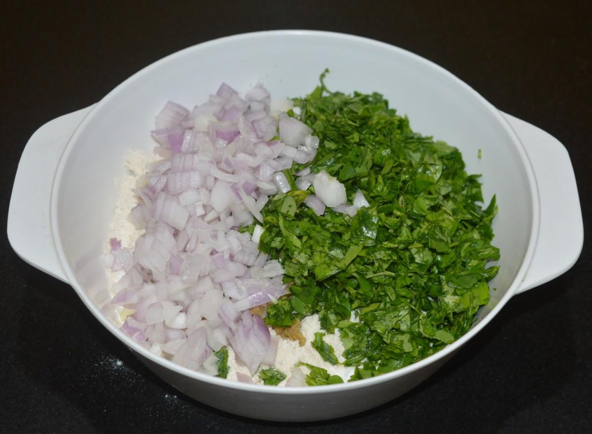 Add chopped onions
