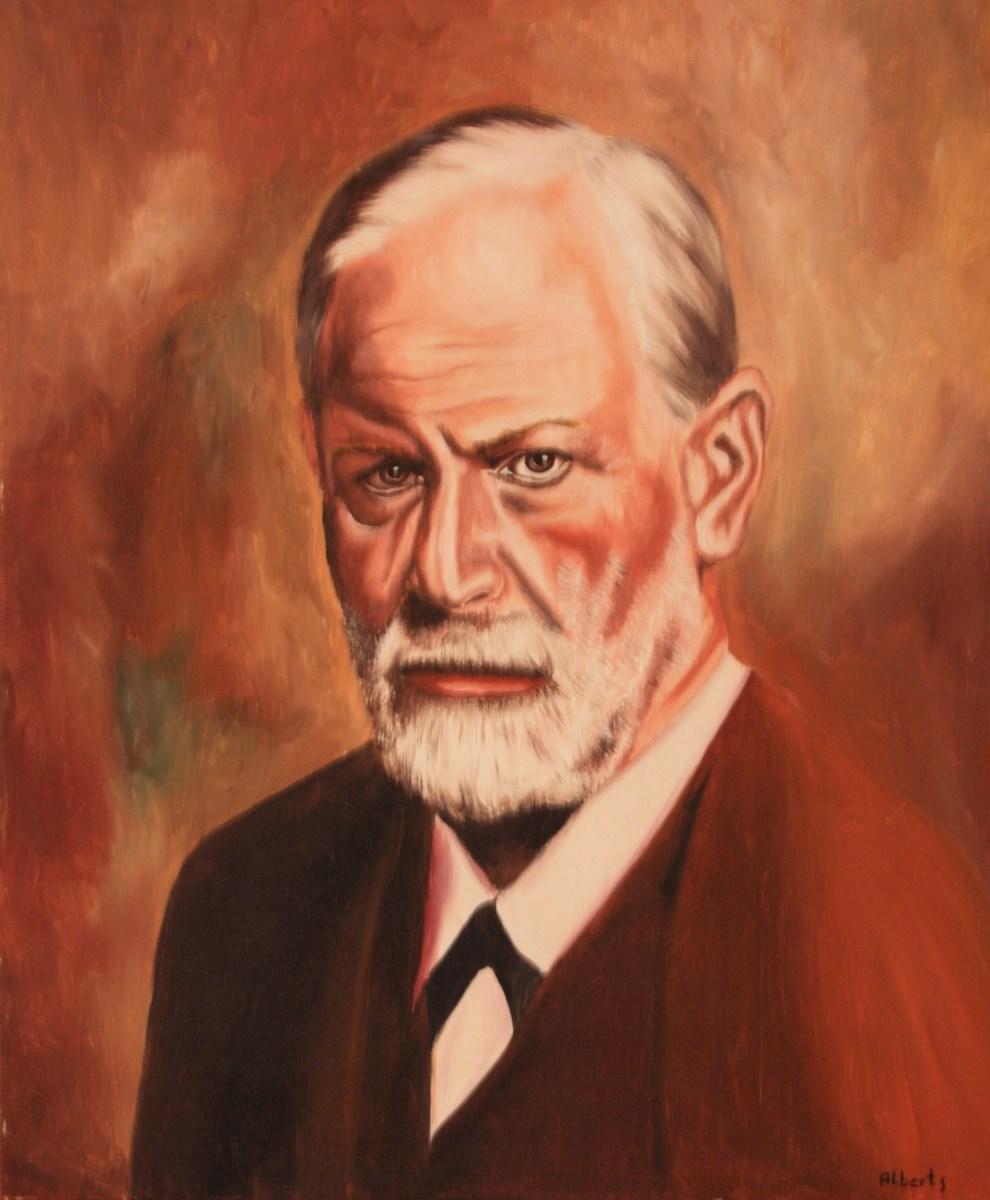 Dr. Sigmund Freud painted by Lothar Alberts