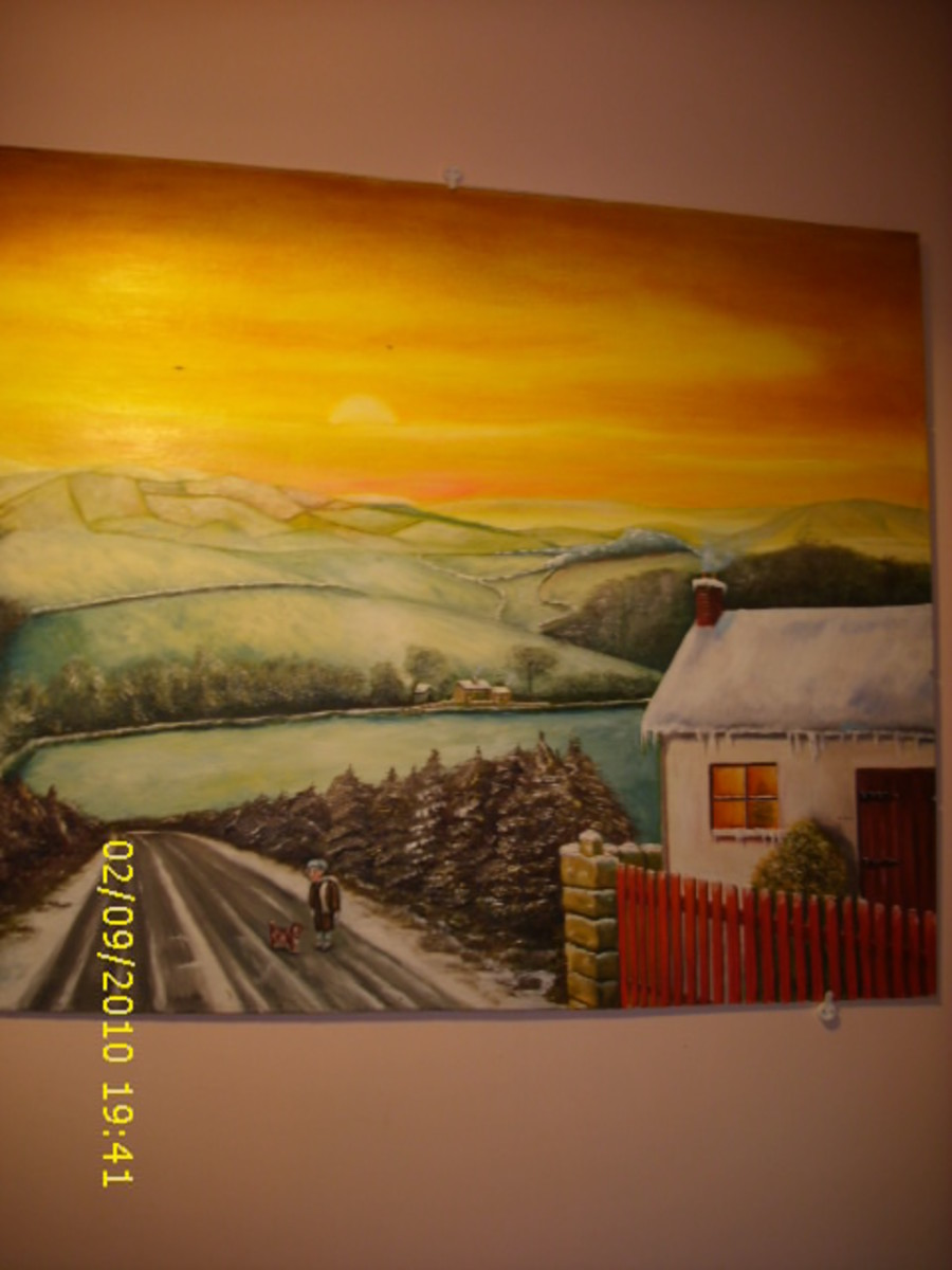 Oil Painting of Shillelagh, Republic of Ireland by Lothar  Alberts