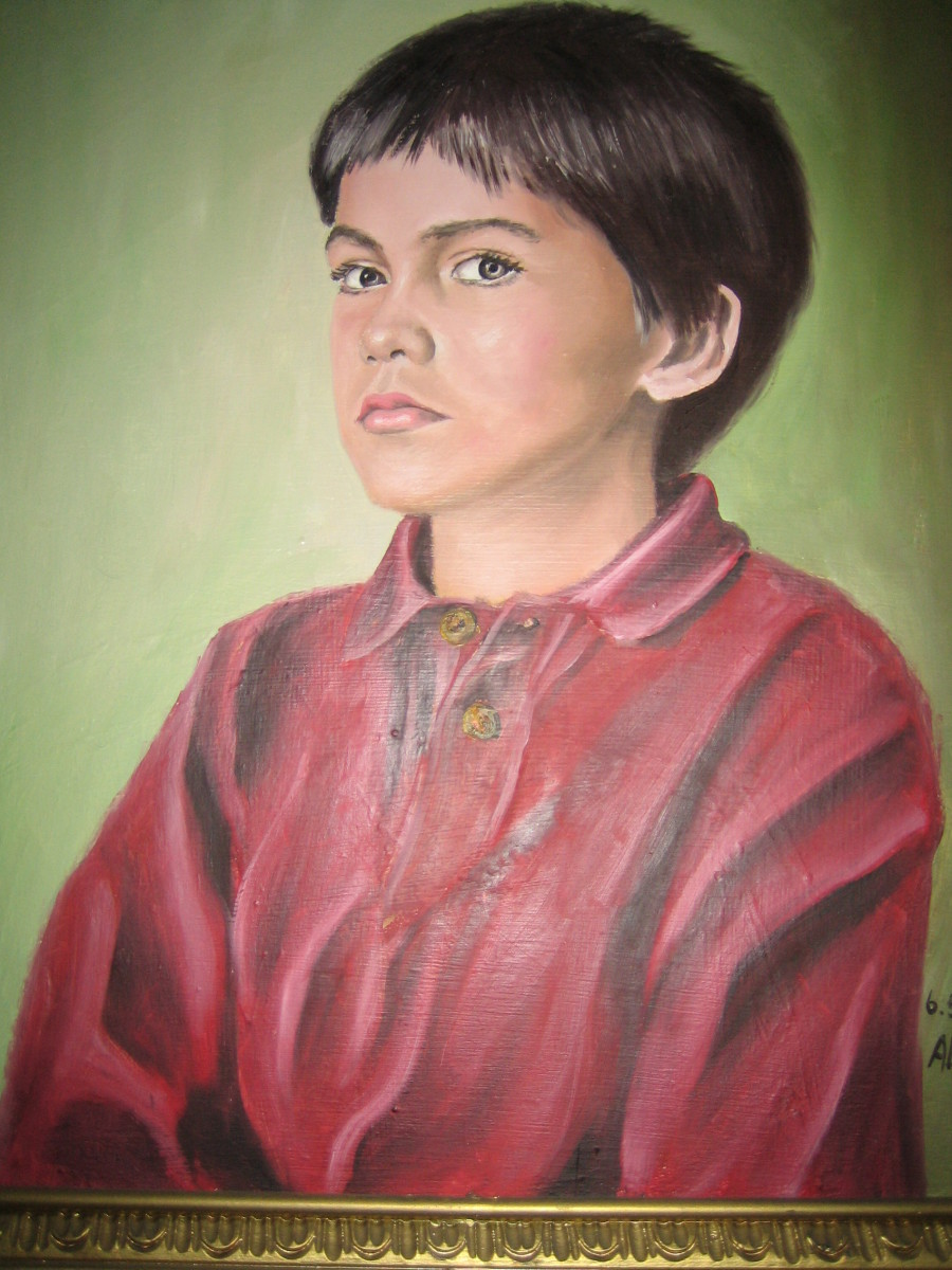 Oil painting of our son by Lothar Alberts