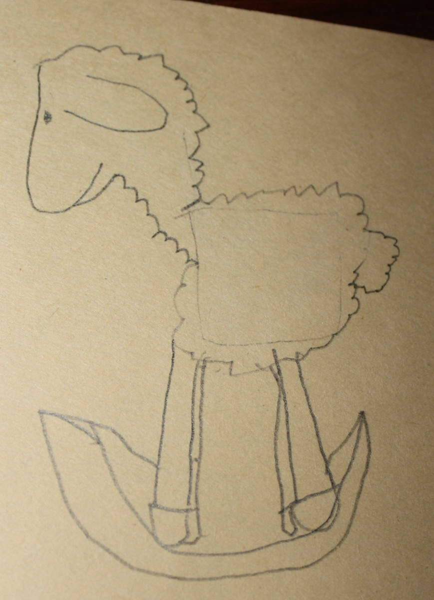 OiLs sheep drawn by a 5 year old